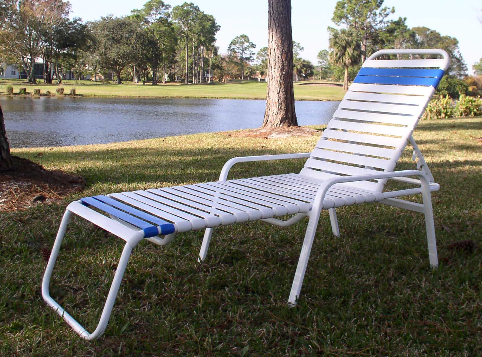 Straight strap style outdoor furniture repair